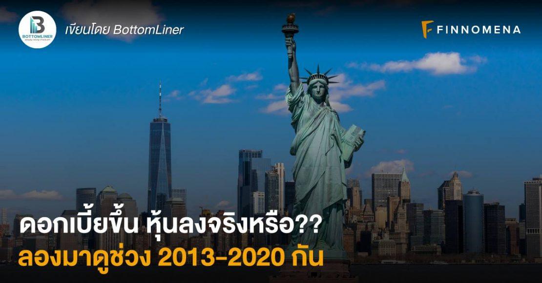 ดอกเบี้ยขึ้น หุ้นลงจริงหรือ?? ลองมาดูช่วง 2013-2020 กัน