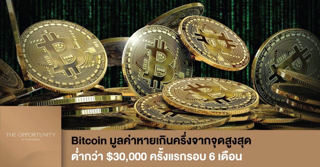 News Update: Bitcoin มูลค่าหายเกินครึ่งจากจุดสูงสุด ต่ำกว่า $30,000 ครั้งแรกรอบ 6 เดือน