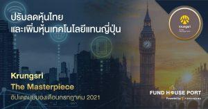 Krungsri The Masterpiece ปรับพอร์ตเดือนกรกฎาคม 2021: ปรับลด หุ้นไทย และเพิ่มหุ้นเทคโนโลยีแทนญี่ปุ่น