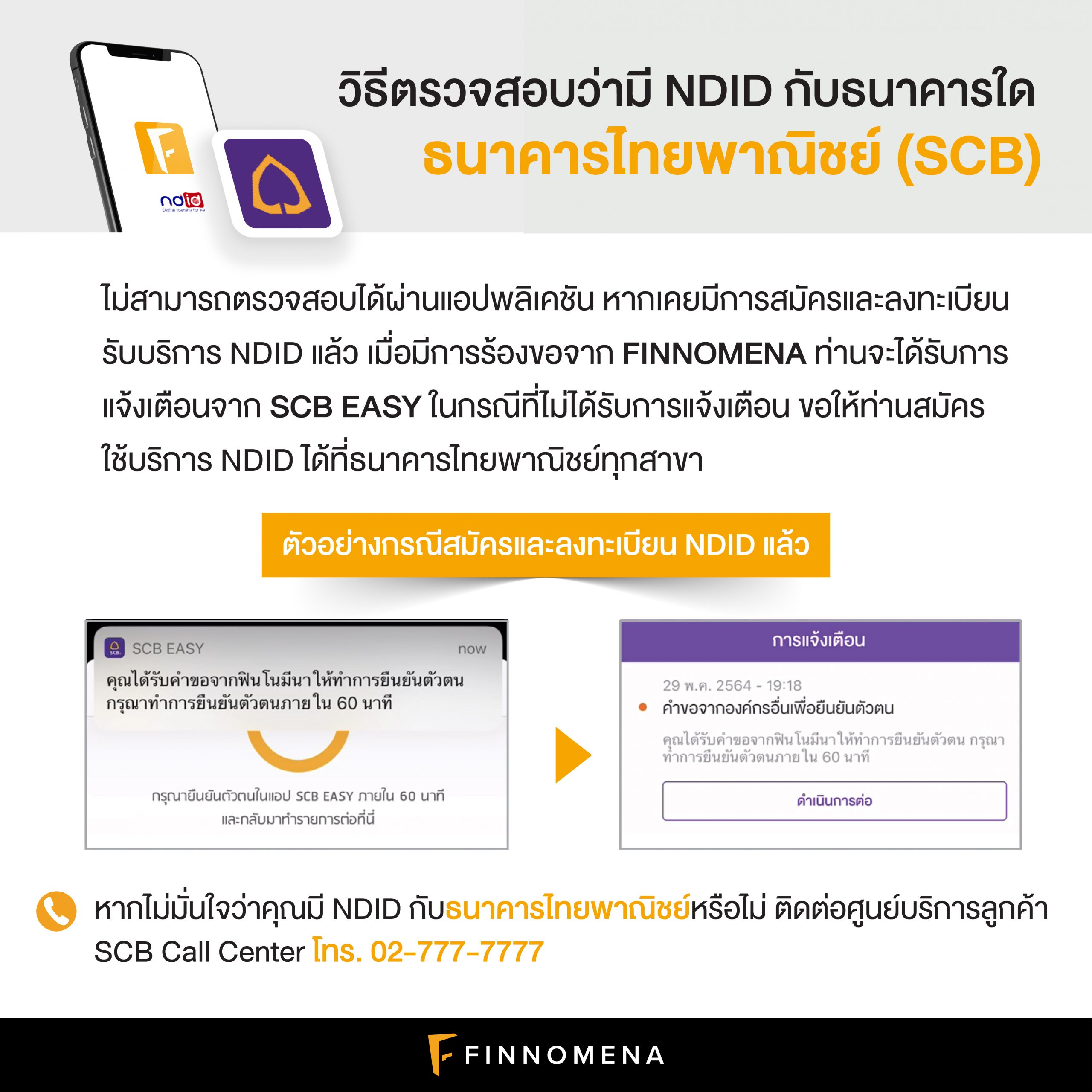 วิธีตรวจสอบว่ามี NDID กับธนาคารใด